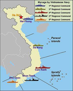 Vietnam People's Navy - VPN's Naval regions