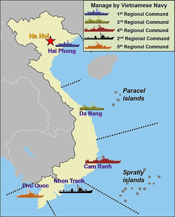 VPN's Naval regions - Vietnam People's Navy