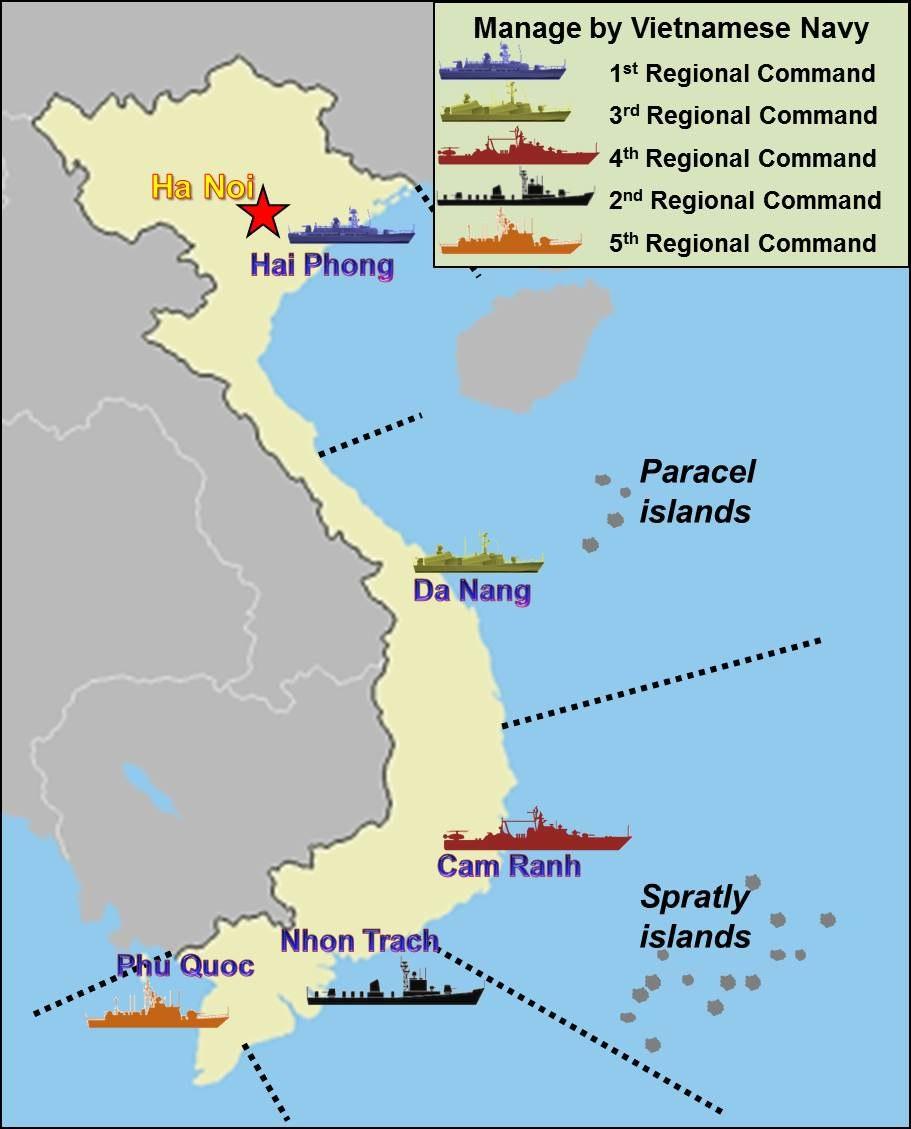 Vietnam Naval Regions