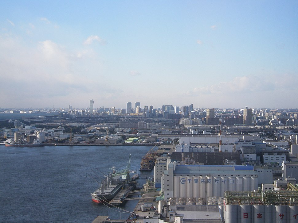 View from Chiba Port-Tower Northwest