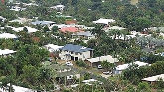 Redlynch, Queensland - Redlynch residential housing as seen from the Kuranda Scenic Railway, 2013