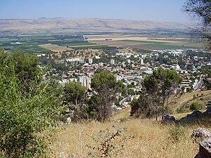 Galilee Panhandle - View of Kiryat Shmona from Mitzpe Liran