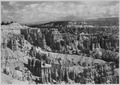 View north along rim from Sunrise Point. Sunset Point at left. Queen's Garden and Queen's Castle in middle distance.... - NARA - 520244.tif