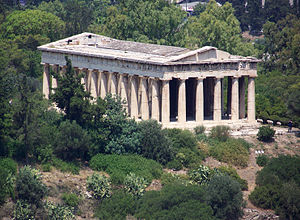 Thiseio - The Temple of Hephaestus; this monument was mistakenly thought to be the Temple of Theseus after which the neighborhood was named
