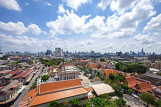 Pom Prap Sattru Phai District - View of Pom Prap Sattru Phai from Wat Saket