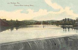 View of River Looking West, Jay Bridge, ME.jpg