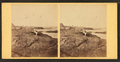 View of a family sitting on the rocks and viewing the ocean, from Robert N. Dennis collection of stereoscopic views.png