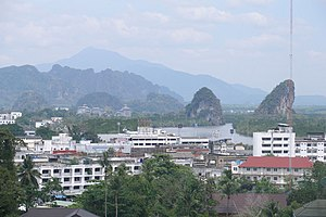 View over Krabi town