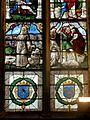 Vineuil-Saint-Firmin (60), église Saint-Firmin, verrière n° 4 - saint François recevant les stigmates et saint Christophe.JPG