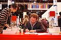 Vinneren av Nordisk rads litteraturpris 2009 pa den nordiske paviljongen pa Salon du Livre i Paris. 19. mars 2011.jpg
