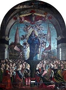 Vittore Carpaccio - Sant'Orsola polyptique - Apoteosi di sant'Orsola e delle sue compagne.jpg