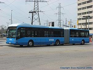 York Region Transit - Viva uses a special fleet of high-end NovaBus and Van Hool buses