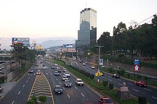 RN-5 (Autopista Comalapa) highway in El Salvador