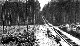 Sinyavino Offensive (1942) - A typical road for vehicles on the Volkhov Front.
