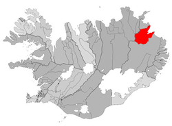 Location of the Municipality of Vopnafjörður