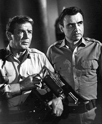 Voyage to the Bottom of the Sea (TV series) - Nelson and Sharkey fight an alien spy, 1968.