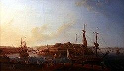 Louis-Nicolas Van Blarenberghe: Vue de l'entrée du port prise de la batterie royale
