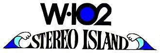 WIOQ - W-102 Stereo Island Logo