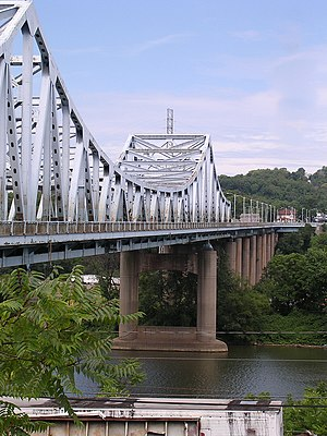 Dravosburg, Pennsylvania - The W.D. Mansfield Memorial Bridge