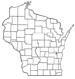 Location of Marshfield, Wisconsin