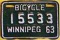 WINNIPEG MANITOBA 1963 -BICYCLE PLATE - Flickr - woody1778a.jpg