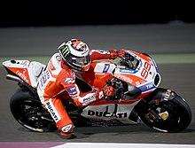 Lorenzo su Ducati Desmosedici nel Gran Premio del Qatar 2017