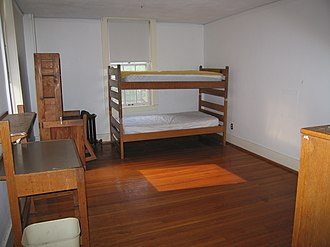 Western Reserve Academy - A typical Reserve male dorm room in the old Athenaeum