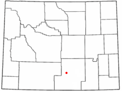 Location of Rawlins, Wyoming