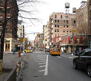 West Broadway Street in Manhattan, New York