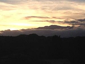 Waiākea-Uka - Sunset behind Mauna Kea from Hoaka Road in Waiakea-Uka.