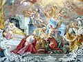 Waidhofen Thaya Pfarrkirche - Fresko 1a Geburt Mariens.jpg
