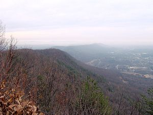 Walden Ridge - Walden Ridge, looking northeast from Mt. Roosevelt