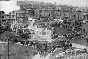 National War Memorial (Newfoundland) - Unveiling the National War Memorial in St. John's, Newfoundland. (Memorial Day, July 1, 1924)