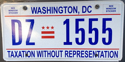Washington, D.C. license plate