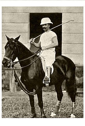 Wasif Ali Mirza - Sir Wasif Ali Mirza on his horse, Venus, while playing polo.