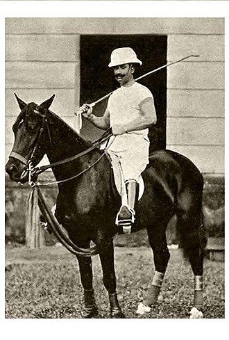 Wasif Ali Mirza - Sir Wasif Ali Mirza on his horse, Venus, while playing polo.