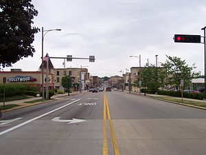 Watertown, Wisconsin - Main Street in downtown Watertown