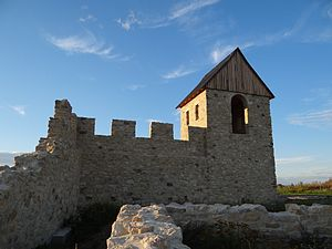 Royal palace of Werla - West tower of the palace complex as reconstructed in 2012
