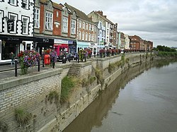 West Quay, Bridgwater from the old town bridge - geograph.org.uk - 1459534
