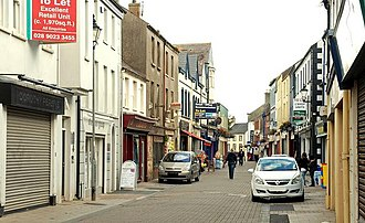 Carrickfergus - West Street on a quiet day.