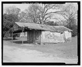 West front and south side - Filling Station, State Highway 3-U.S. Highway 19 at Croxton Cross Road, Sumter, Sumter County, GA HABS ga-2386-2.tif