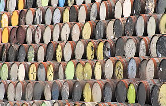 Grain whisky - Barrels waiting to be filled with grain whisky at the Whyte and MacKay Grain Distillery in Invergordon