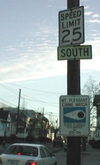 Rhode Island Route 10 - This old SOUTH plate on River Street once had a Route 10 shield underneath.