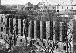 Library stack - Image: Widener Library Under Construction 1913Dec 4 cropped