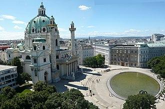 Karlsplatz - Karlskirche on Karlsplatz, Vienna
