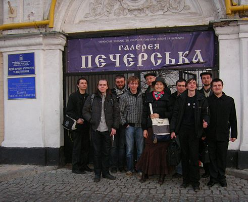 Group photo of participants of Wiki Loves Monuments workshops in Kiev on 24 March 2012