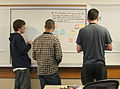 Wikipedia in Higher Education Summit attendees participating in activity - from behind.jpg