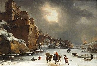Willem Schellinks - City Walls in Winter