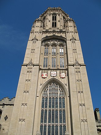 Wills Memorial Building - Wills Memorial Building, front face