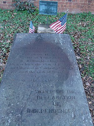 William Hooper - William Hooper's original grave in Hillsborough, North Carolina